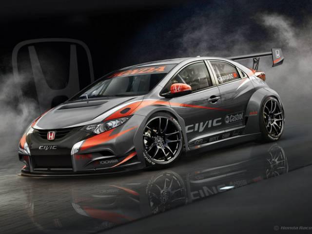 Prima immagine della nuova Honda Civic WTCC 2014