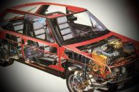 La Fiat Ritmo di metà anni '80