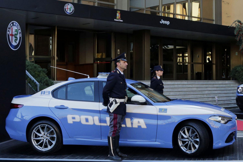 Nuova Giulia Veloce in allestimento Polizia Stradale