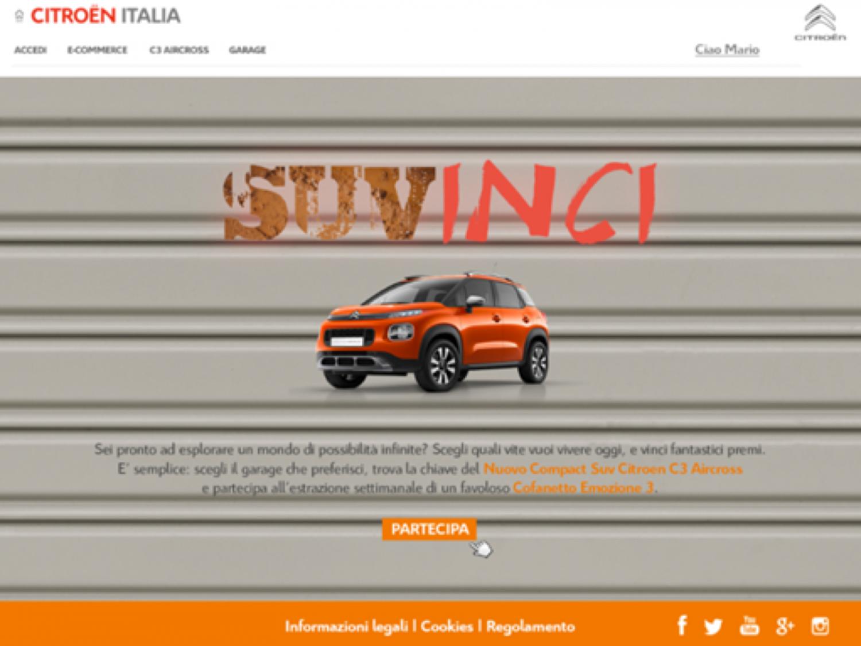 Citroën C3 Aircross: il concorso è online
