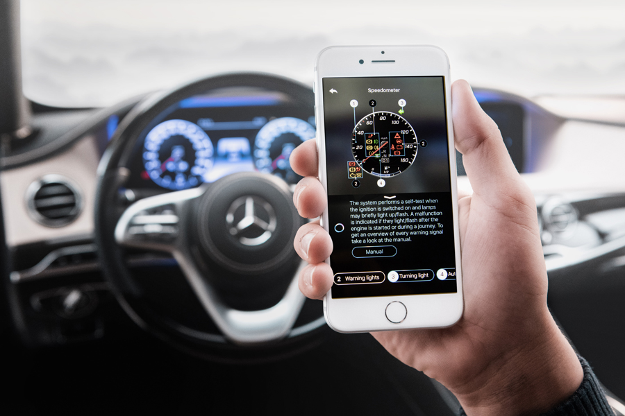 Mercedes e l'assistente virtuale