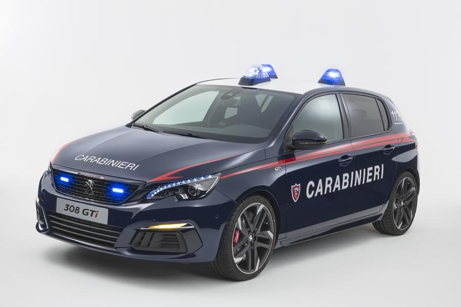 Peugeot 308 GTi per l'arma dei Carabinieri