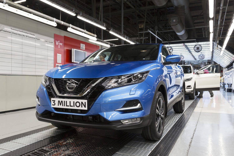 Nissan, tre milioni di Qashqai prodotte nel Regno Unito