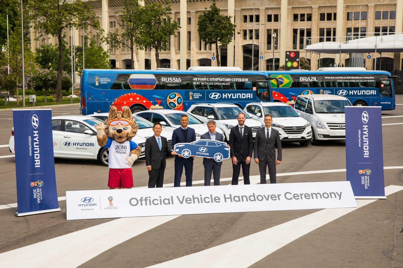Tucson e Santa Fe nella flotta di veicoli Hyundai per i Mondiali di Russia 2018