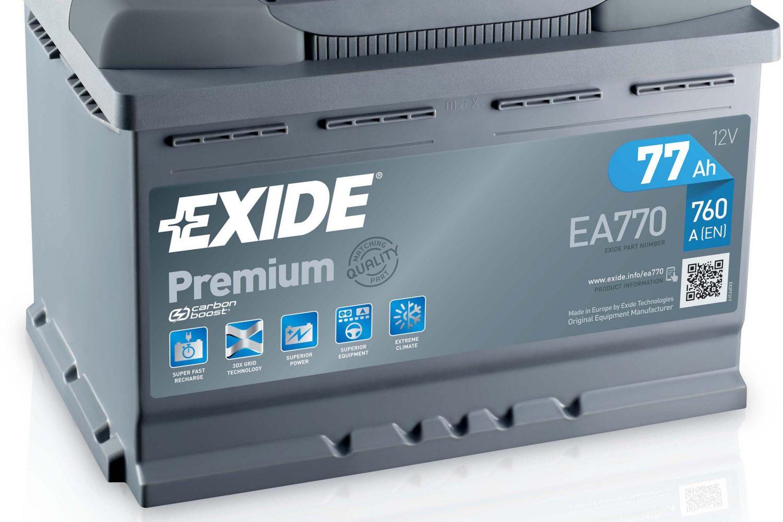 Exide, nuove etichette per le batterie