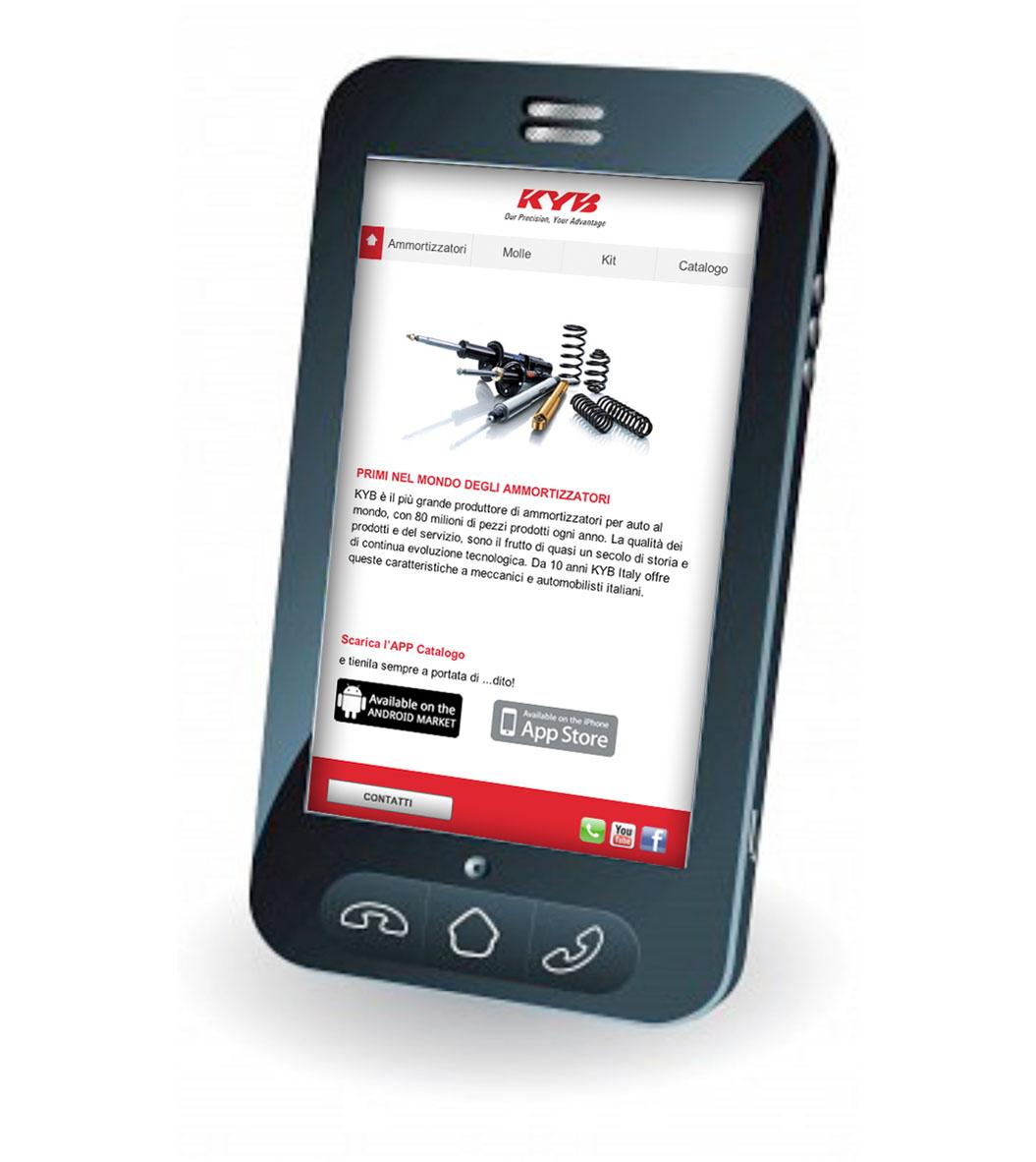 Un sito mobile per kyb auto tecnica for Sito mobili