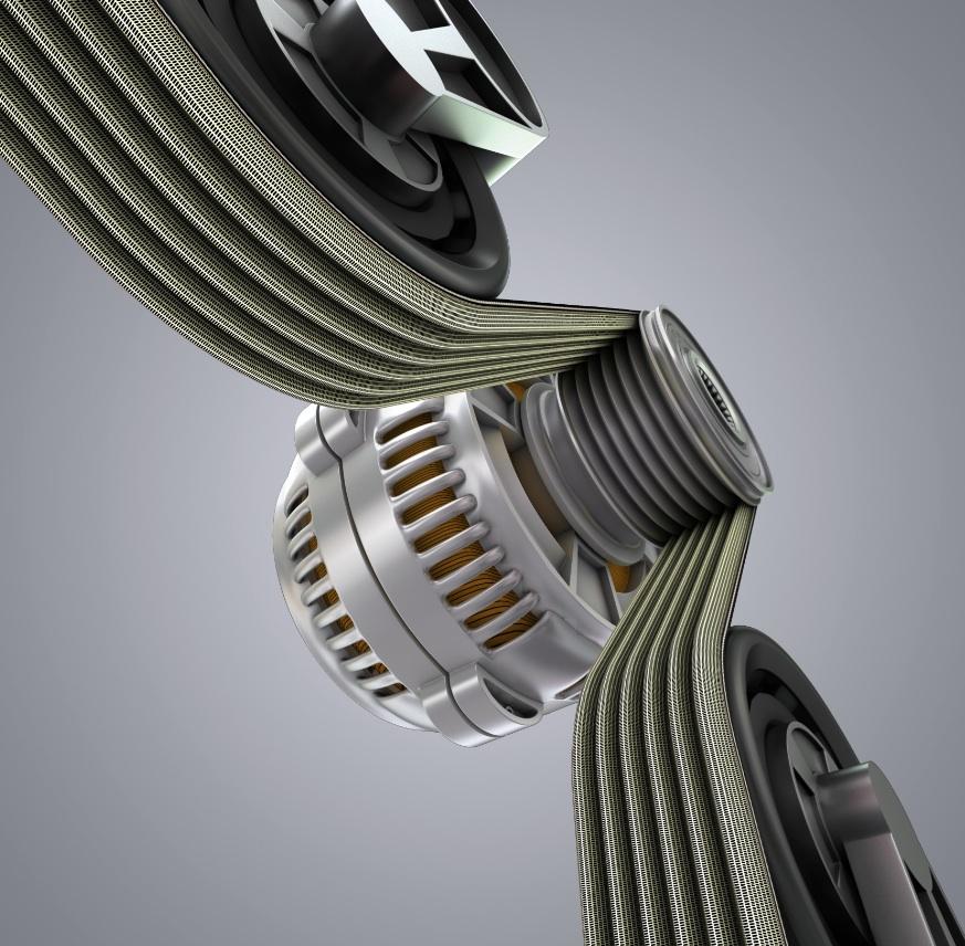 Continental è all'avanguardia anche nella fabbricazione di cinghie di trasmissione.