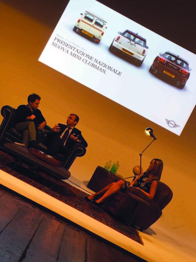 Federico Izzo - Mini Sales and Brand Manager - Sergio Solero - AD BMW Italia - e Cristiana Lattuada - Press Office Mini.