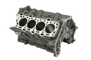 Monoblocco motore Ford V-8 Coyote per Ford Mustang GT.