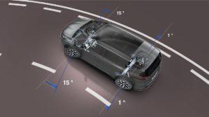 Oltre gli 80 km/h le ruote posteriori sterzano fino a 1°