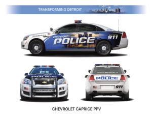 The Chevrolet Caprice PPV is one of the vehicles Detroit Mayor Dave Bing showed today as he announced that Detroit's corporate community is supporting his Active and Safe Campaign with an $8 million contribution that will be used to replace the entire fleet of 23 ambulances for the Detroit Fire Department's Emergency Medical Services (EMS) Division and provide 100 new patrol cars for the Detroit Police Department.