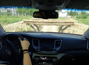 La posizione di guida alta garantisce ottima visibilità anche nelle situazioni più impegnative.