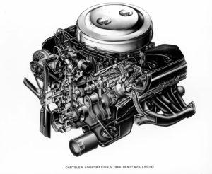 1966 Chrysler Corporation's HEMI - 426 Engine - cutaway