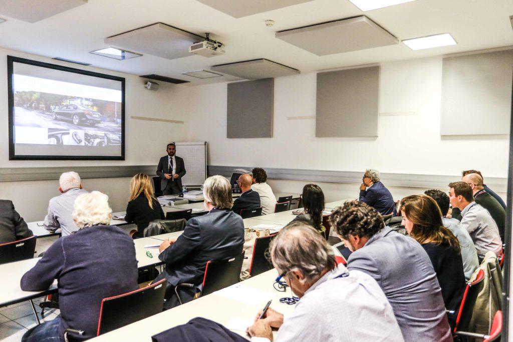 Un'immagine della presentazione delle nuove figure professionali previste nella rete BMW