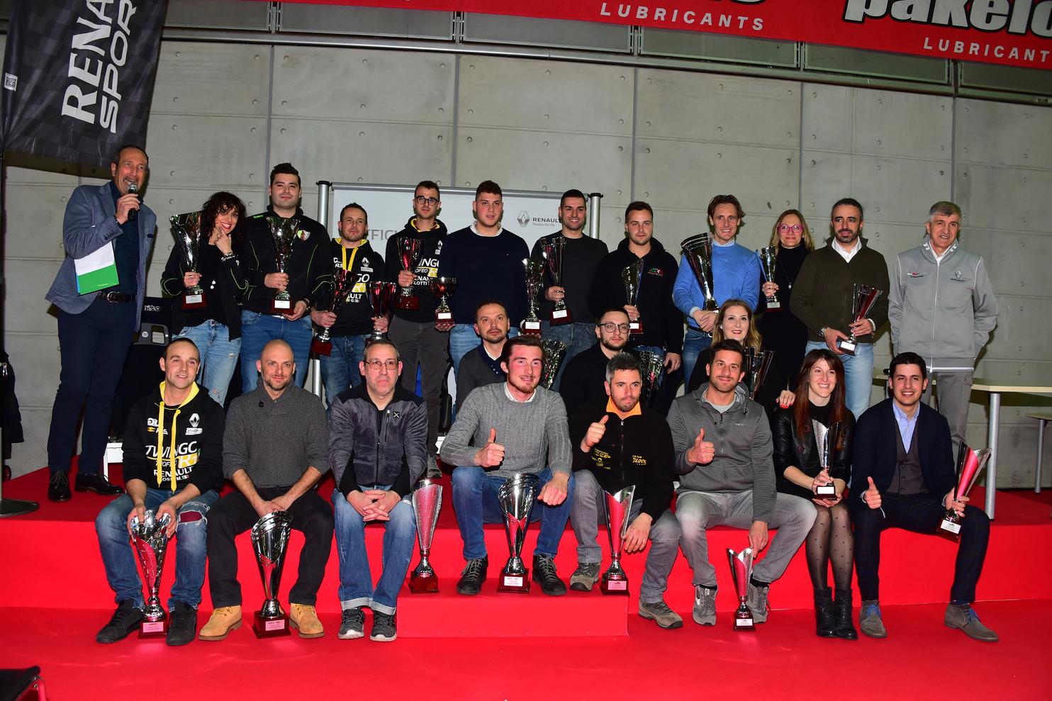 RENAULT PREMIA I CAMPIONI DEI TROFEI RALLY 2018 AL SALONE AUTOMOTORACING DI TORINO