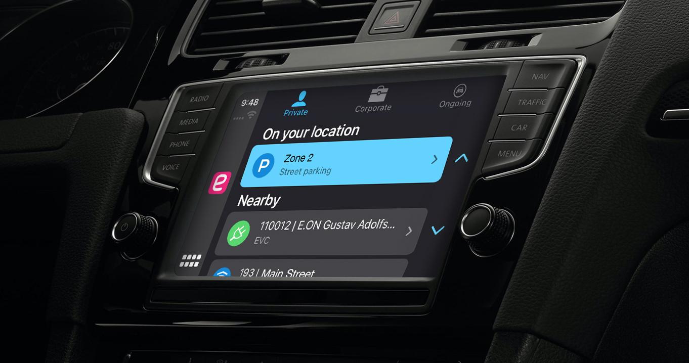 EasyPark Apple CarPlay